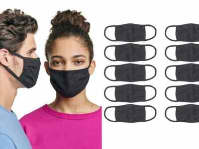 Hanes: Face Masks 10-Pack JUST $17.50 + FREE Shipping (That's $1.75 per Mask)