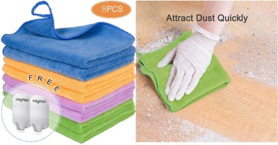 Amazon: 8PCS Microfiber Cleaning Cloths for House, Kitchen $4.49 ($13)
