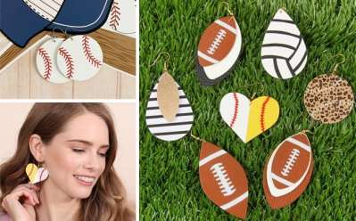 Jane: Leather Sport Earrings ONLY $3.99 (Regularly $26) – So Cute!