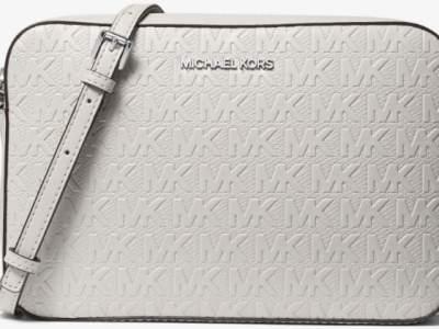 Michael Kors: Debossed Leather Crossbody Bag NOW $79.00 (Was $328.00)