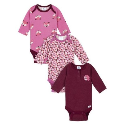 Walmart: Gerber Baby Girl Assorted Long Sleeve Onesies, 3-Pack For $7 (Was $15)