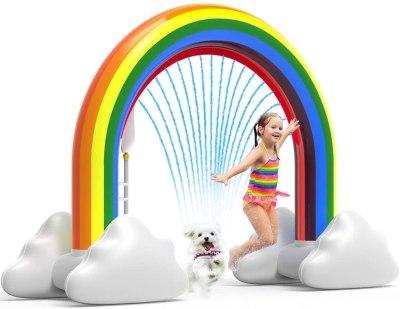 Amazon: Rainbow Sprinkler Toys, Outdoor Inflatable For $42.99 (Reg. $65.99)