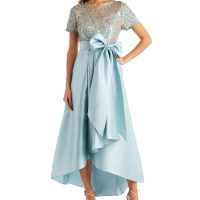 Macy's: R & M Richards Sequins & Satin High-Low Gown $35.99 ($129)