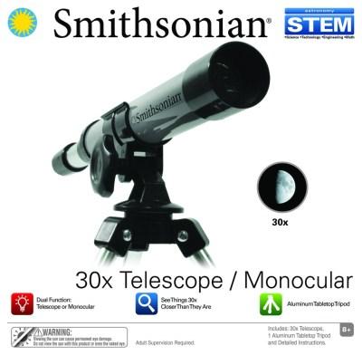 Walmart: Smithsonian 30X Telescope/Monocular Kit For $11.54 (Was $19)
