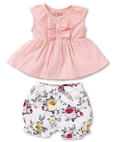 Amazon: Toddler Baby Girls Outfit for $8.99 (Reg.Price $17.98)