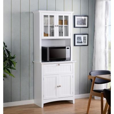 Home Depot: White Buffet And Hutch With Framed Glass Doors And Drawer For $189.45 (Was $199)