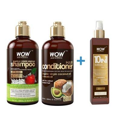 Walmart: WOW Apple Cider Vinegar Shampoo And Conditioner + Hair Oil For $28.66 (Reg. $40.95)