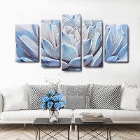Amazon : 5 Panels Succulent Plant Art Just $14.27 W/Code (Reg : $71.36)
