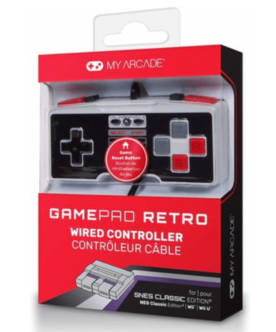 Walmart: My Arcade GamePad Retro Wired Controller for NES and SNES Classic, Just $8.44 ( Reg. Price $19.18 )
