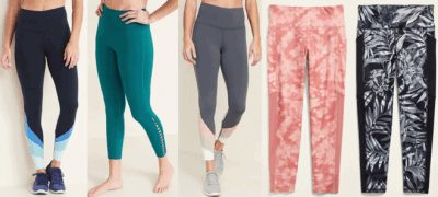 Old Navy: Girls & Women's Active Leggings JUST $12 – $14 (Reg $35) – Today Only!