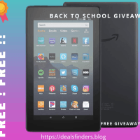Back to School Giveaways | Win An Amazon Fire 7 Tablet
