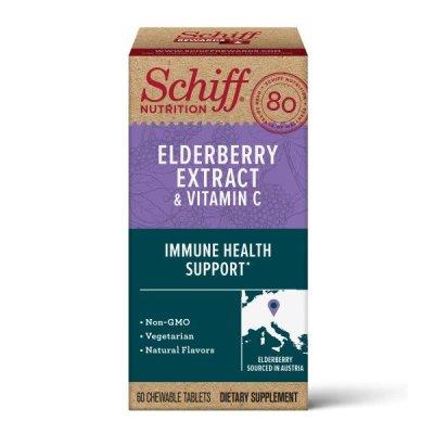 Walmart: Schiff Elderberry Extract & Vitamin C Chewable Tablets (60 Count) $31.97 (Was $40)
