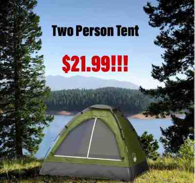 Trade Mark Two Person Tent $21.99 (Reg. $79.99)