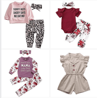 Amazon: Toddler Baby Girl Outfit Sets for $7.59-7.99