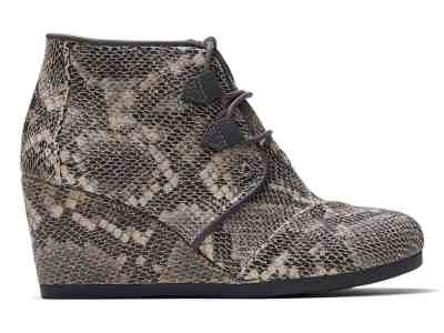 Zulily: Black Snake-Embossed Kala Leather Bootie – Women ONLY $28.99 (Reg $90)