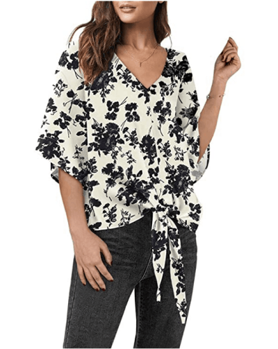 Amazon: Tie Knot Floral Blouses Tops Just $11.69
