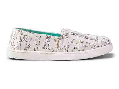 Zulily: White Bunny Canvas Alpargata – Kids ONLY $21.99 (Reg $42)