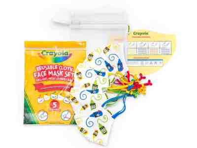 Sam's Club: Crayola Kids' 5-Pack Reusable Face Mask (Craymoji) ONLY $22.98