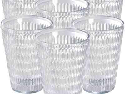 Amazon: 6Pack Diamond Pattern Acrylic Tumblers For $6.39
