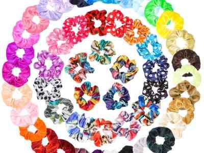 Amazon: WATINC 50Pcs Silk Satin Velvet Hair Scrunchies For $7.49