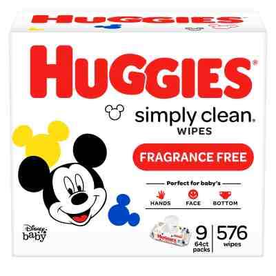 Walmart: Huggies Simply Clean Unscented Baby Wipes $5.38-$13.98