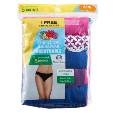 Kohl's: Women's Fruit of the Loom Panties From ONLY $8.16 Each + FREE Shipping (Reg $26)