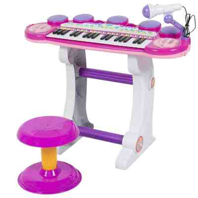 BCP: 37-Key Kids Electric Keyboard w/ Microphone, Stool $54.99 (Reg $110.99)