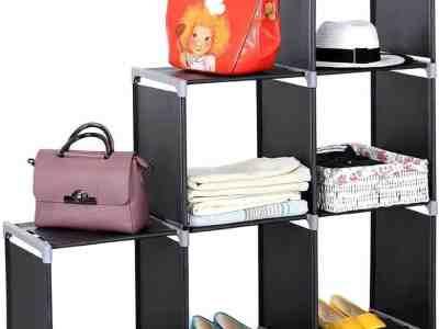 Amazon: 3 Tiers 6 Compartments Storage Shelf Black For $18.75 (Reg. $37.5)