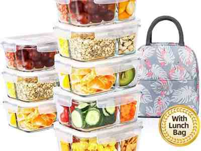 Amazon: DAS TRUST Meal Prep Containers with Lunch For $23.00
