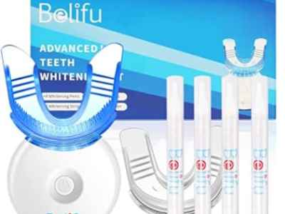 Amazon: Teeth Whitening Kit with LED Light for $12.90 (Reg. Price $29.99)