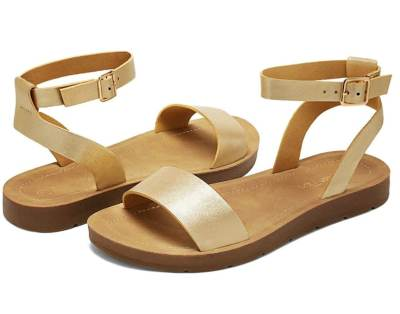Amazon: Women's One Band Ankle Strap Buckle Flat Sandals for $8.49 – $9.49 (Reg. Price $16.99 – $18.99)