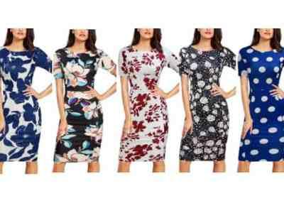 Amazon: Women Elegant Bodycon Pencil Dress for $14.99 (Reg. Price $29.98)