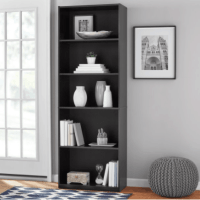"Mainstays 71"" 5 Shelf Bookcase, Black $29.88"