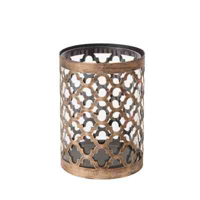 """Home Depot: 7.6"""" Metal and Glass Outdoor Patio Candle Holder ONLY $14.25 (Reg $19)"""