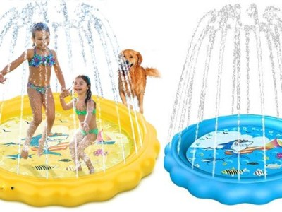 Amazon: Kids' Inflatable Sprinkler Pool ONLY $24 + FREE Shipping (Reg $40) – 2 Colors!