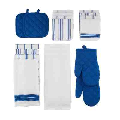 Walmart: Mainstays,20 Piece Set, Terry & Flat Kitchen Towel, Dish Cloth, Flour Sack, Oven Mitt, Pot Holder For $20.21 (Reg.$24.99)