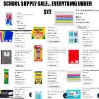 Walmart : Huge School Supply Sale(Everything Under $1)