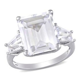 Sam'sClub:8.9CT. Emerald-Cut & Taper Baguettes White Topaz Ring For $89.00 (Reg.$195)