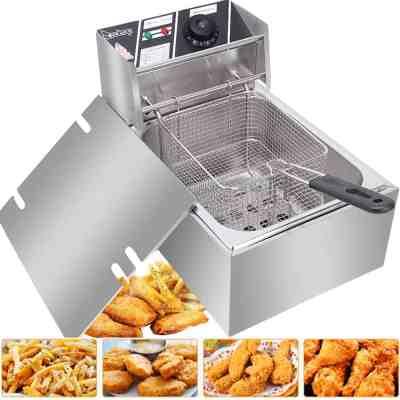 Walmart: Zimtown 6L 2500W Electric Deep Fryer Commercial Tabletop Restaurant Frying Basket For $50.99 At (Reg.$95.99)