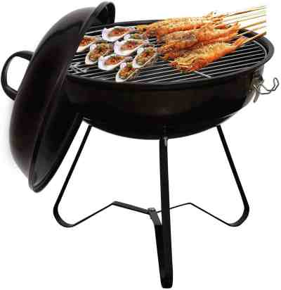 Amazon: 14-inch Charcoal Grill Outdoor Camping 50% Off W/Code