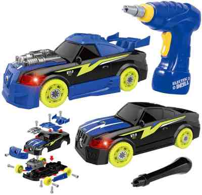 Amazon: 26 Pieces Assembly Car Toys with Drill Tool, Lights and Sounds for $10.99 (Reg.Price $19.99) after code and coupon!