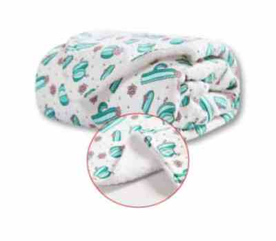 Amazon: 30×40″ Cactus Plush Baby Blanket for $9.99