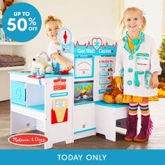 Zulily: TODAY ONLY* It's a Melissa & Doug Blow Out! The Get Well Center and Diner are $114.99, Supermarket is $129.99