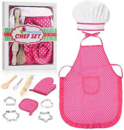 Amazon: 11 Pcs Kids Cooking Apron Set for $10.79 (Reg. $17.98) 40% Off*