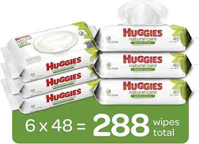 Amazon: 6 Flip-Top Packs Huggies Natural Care Sensitive Baby Wipes for $9.99