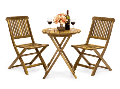 BCP: 3-Piece Acacia Wood Bistro Set – Folding Table and Chairs ONLY $129.99 (Reg $220)