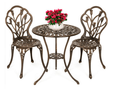 BCP: 3-Piece Cast Aluminum Patio Bistro Furniture Set ONLY $149.99 (Reg $220)