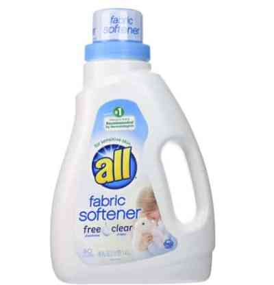 Amazon: All Liquid Fabric Softener, Free Clear for Sensitive Skin for $3.97 (Reg. Price $9.40)