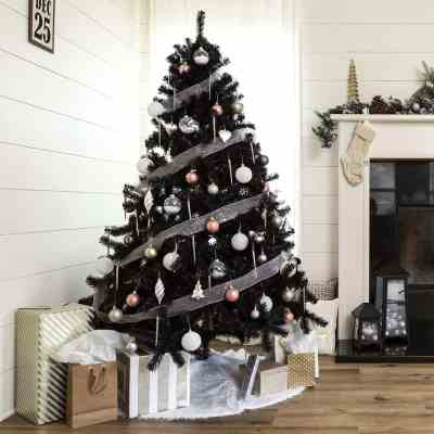 BCP: Black Artificial Christmas Tree w/ Easy Assembly (6-ft) ONLY $79.99 (Reg $115)