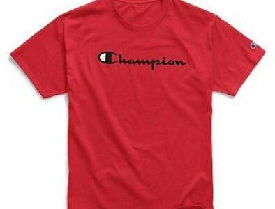 eBay: Champion T-Shirt Tee Men's Script Logo Jersey Tee $12.04 (Reg $20.00)
